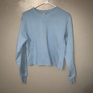 Champion Raw Hem Crop Fit Sweatshirt